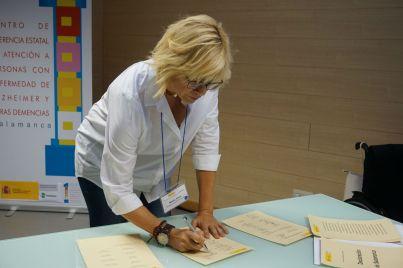 Elena Martín firma la Declaración de Salamanca