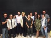 Profesores del centro con Elena Martín, encargada de impartir el curso
